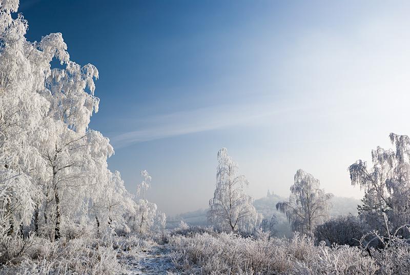Zimowy krajobraz na Karczówkę, Kielce.