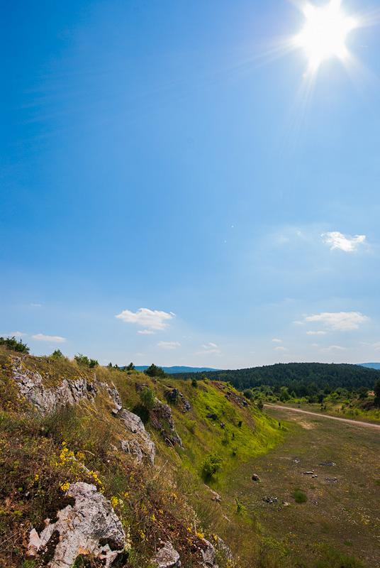 Kamieniołom przy Grabinie, widok na Brusznię.