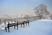 Zimowy widok z Karczówki