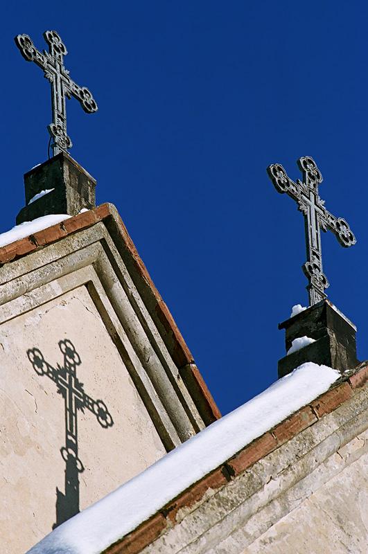 Klasztorne krzyże na Karczówce.