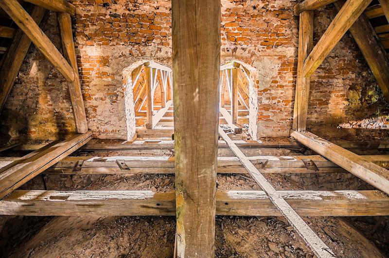 Wnętrze klasztoru na Karczówce w Kielcach.