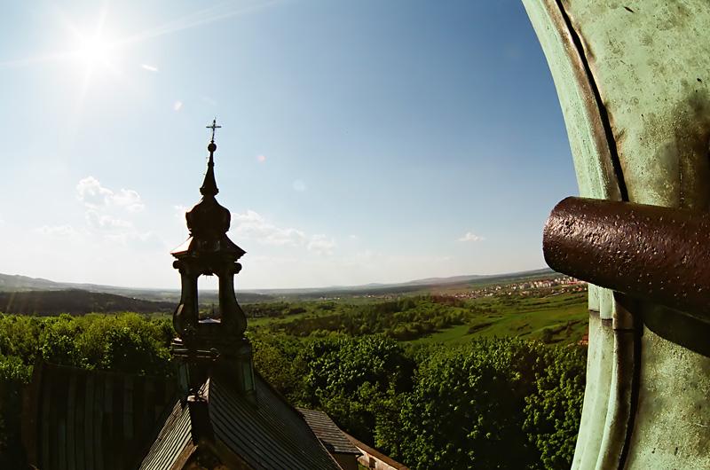 Widok z Karczówki w stronę zachodnią, Kielce.