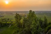 Zachód słońca z Grabiny