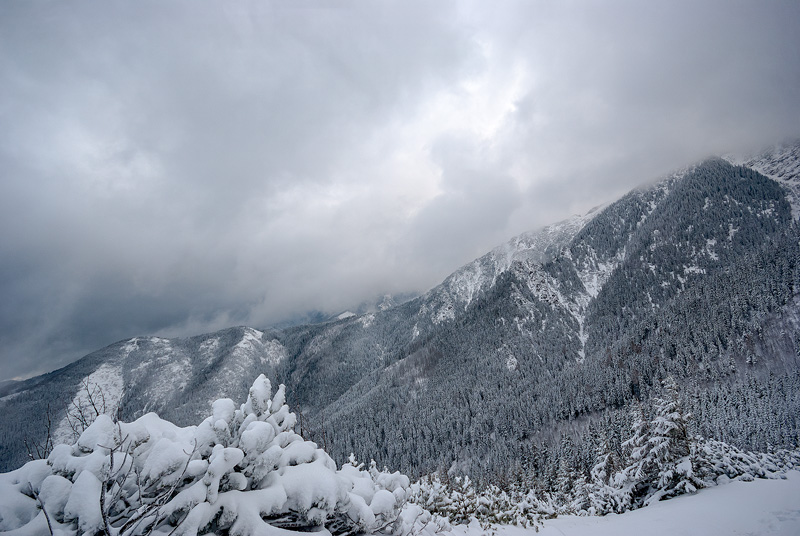 Zimowe Tatry.