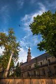 Przy katedrze w Kielcach