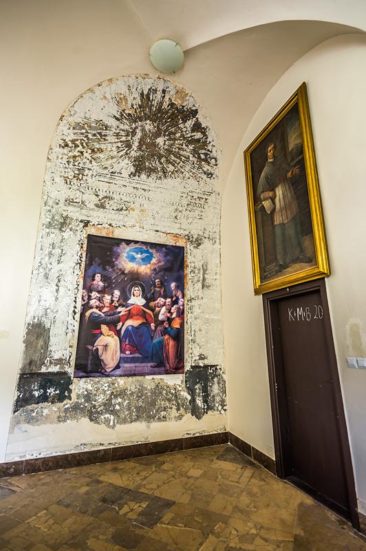 Krużganki klasztoru na Karczówce w Kielcach.