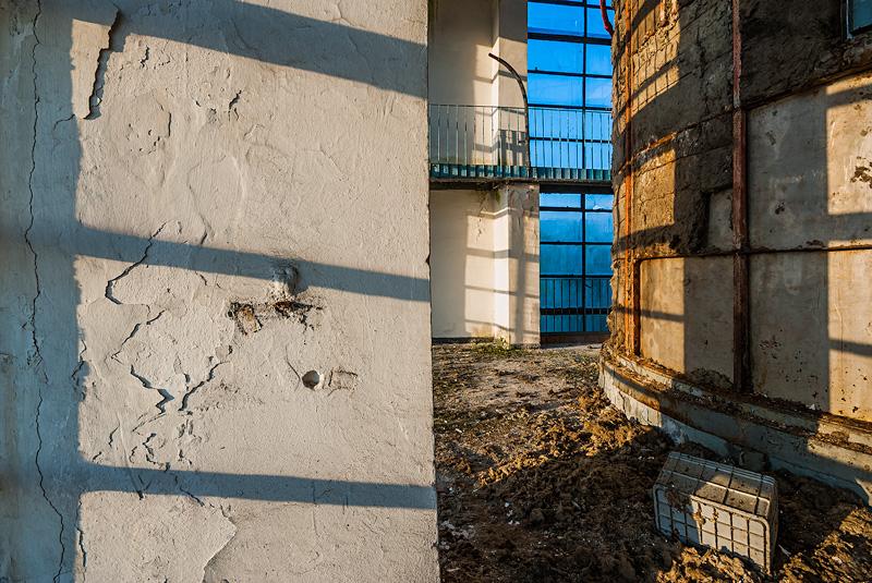 Ruiny mleczarni w Pińczowie.