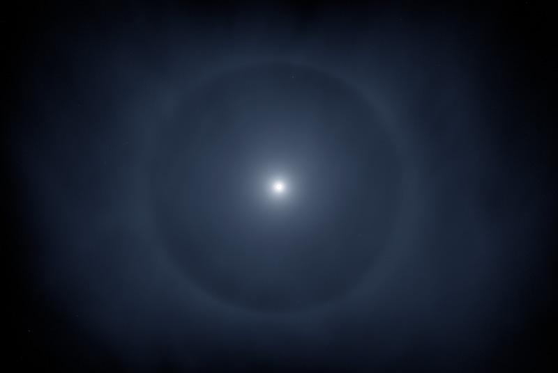Moon halo.